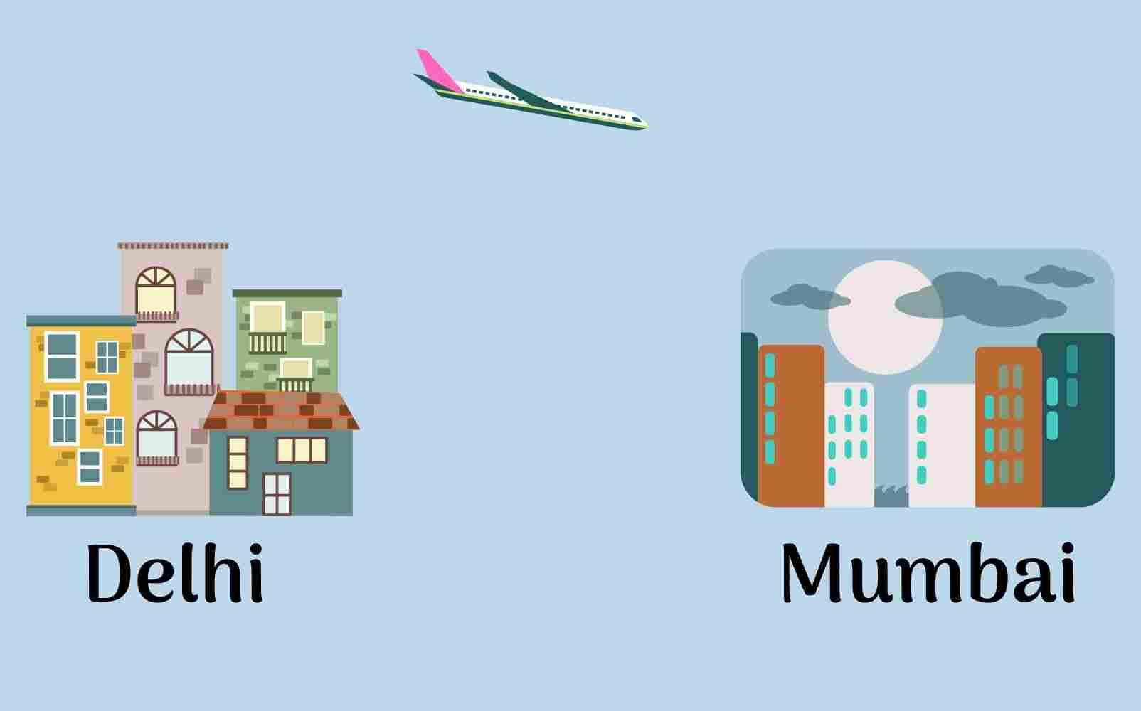 DEL BOM: Airports