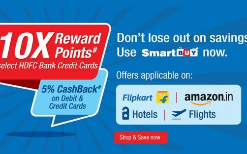 Smartbuy 10x Rewards/ 5% Cashback