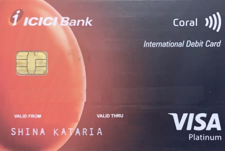 ICICI Bank Coral Paywave International Debit Card